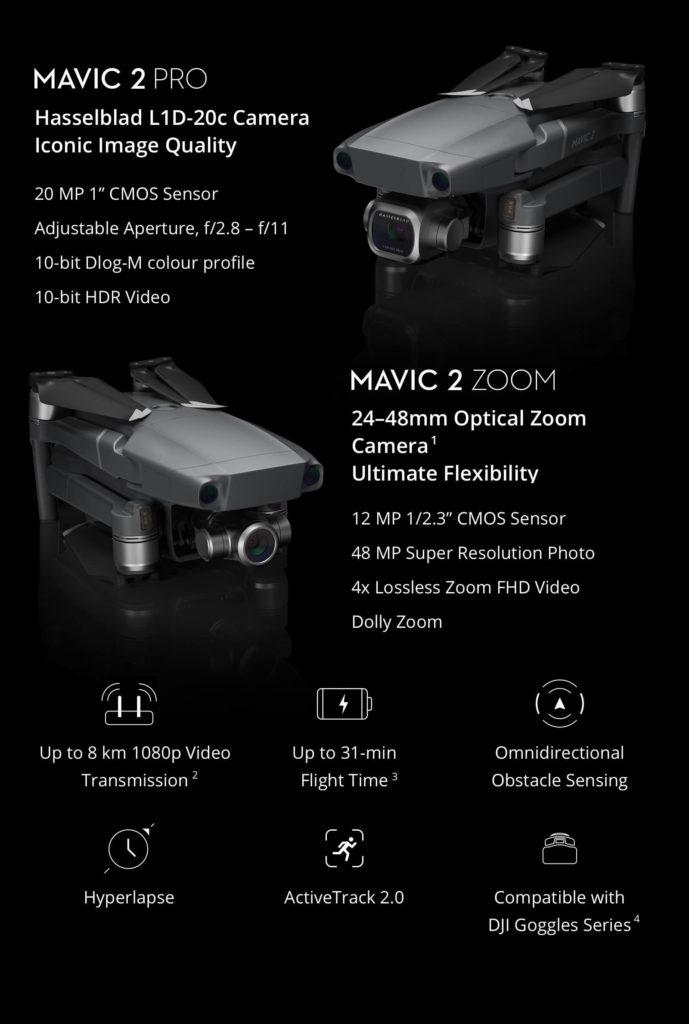 Flycam DJI Mavic 2 Zoom & DJI Mavic 2 Pro