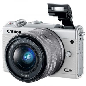 CANON EOS M100 KIT 15-45MM F/3.5-6.3 IS STM (TRẮNG)