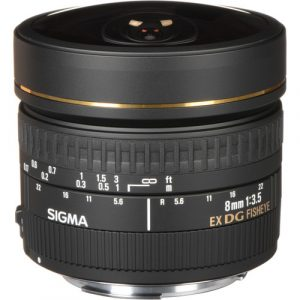Sigma 8mm f/3.5 EX DG for Canon (Hàng cũ)