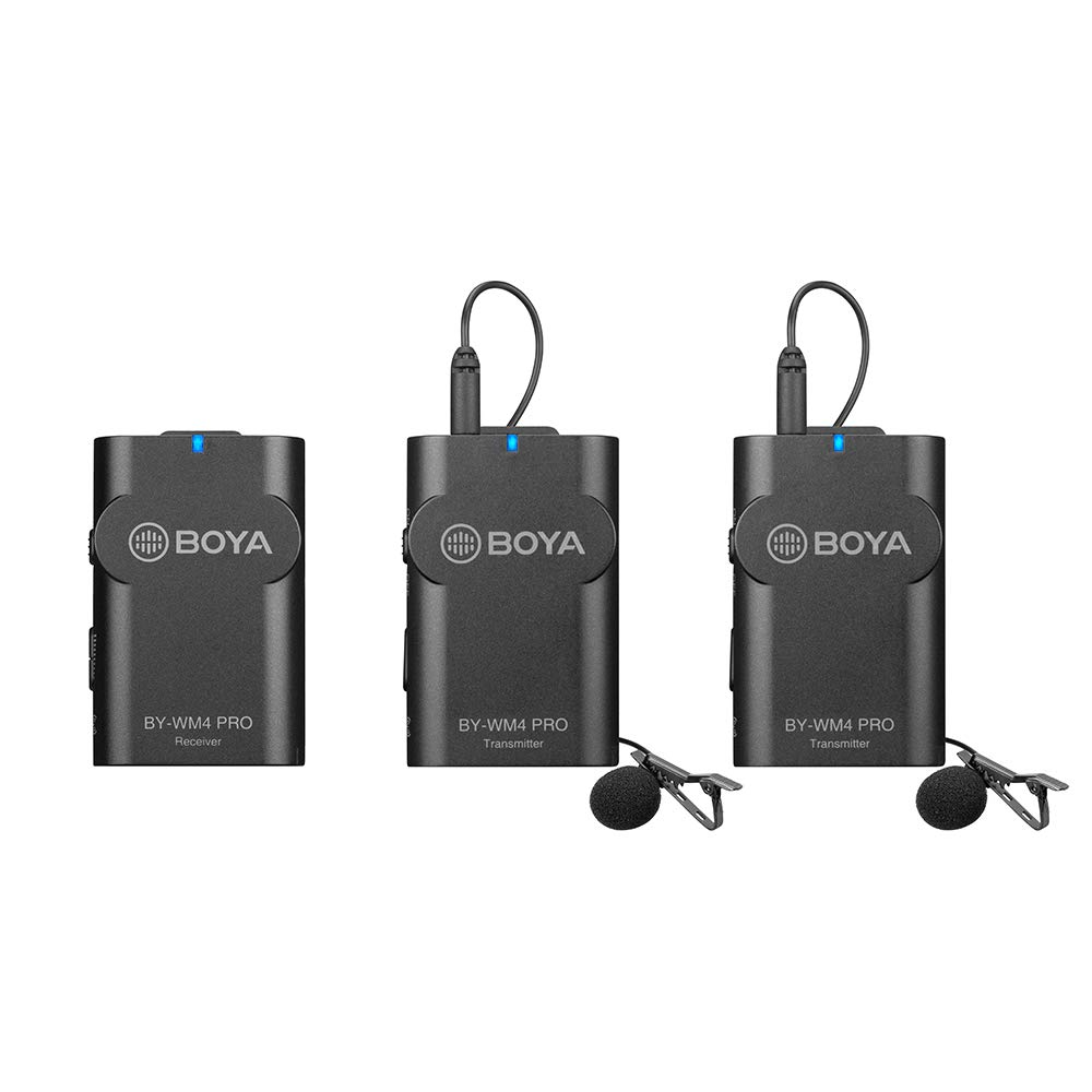MICRO THU ÂM WIRELESS UHF BOYA BY-WM4 PRO-K2 (BỘ THU 2 MICRO)